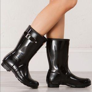 Hunter Original Short Gloss Black Rain Boots